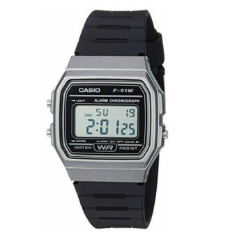 Casio Men's Vintage Quartz Plastic and Resin Casual Watch F-91WM-1BCF