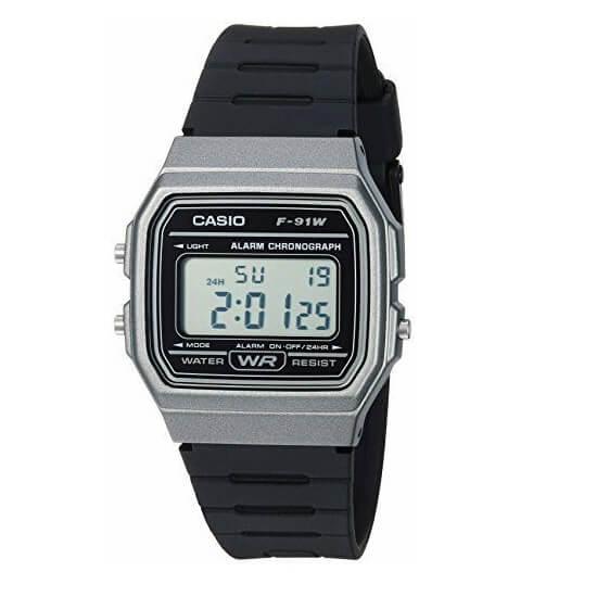 Casio Men's Vintage Quartz Plastic and Resin Casual Watch F-91WM-1BCF