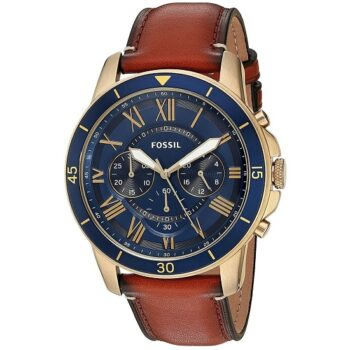 Fossil Men's Grant Sport Quartz Leather Watch, Color: Brown (Model: FS5268)