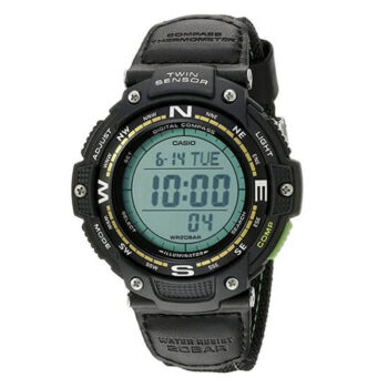 Casio Men's SGW-100B-3A2CF Twin Sensor Digital Display Quartz Black Watch