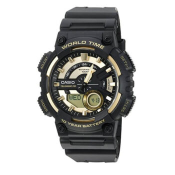 Casio Men's Sports Quartz Watch with Resin Strap, Gold, 28.6 (Model AEQ110BW-9AV)
