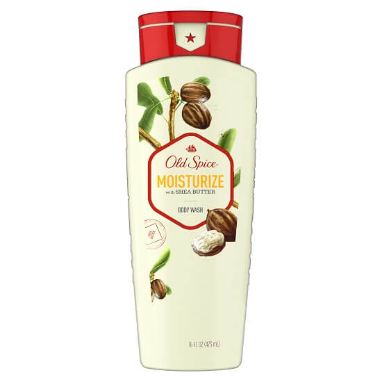 Old Spice Moisturize with Shea Butter Scent Body Wash for Men