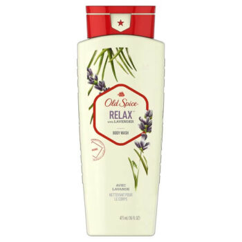 Old Spice Relax with Lavender Body Wash for Men 16 Fl Oz