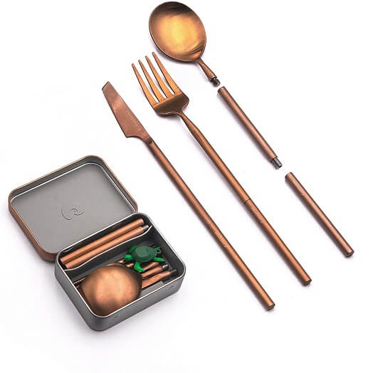 Outlery Portable & Reusable Stainless Steel Travel Cutlery Set