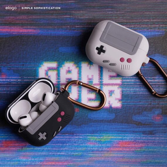 Airpods Pro Game Console Design Case with Keychain - Silicone