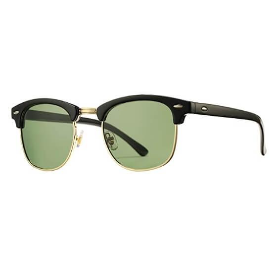 Pro Acme Classic Semi Rimless Polarized Sunglasses with Metal Rivets (1)