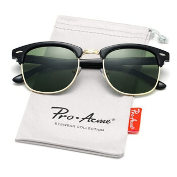 Pro Acme Classic Semi Rimless Polarized Sunglasses with Metal Rivets (1)