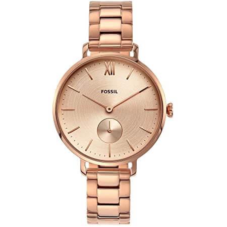 Fossil Women's Kalya Three-Hand Rose Gold-Tone Stainless Steel Watch ES4571 4