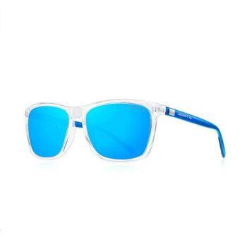 MERRY'S Transparent Blue Polarized Sunglasses Aluminum Vintage S8286
