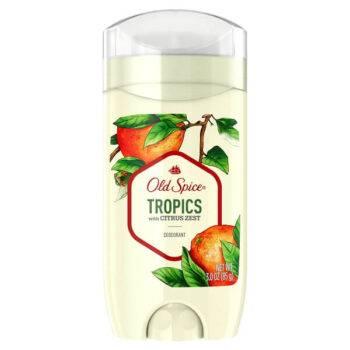 Old Spice Tropics with Citrus Zest Scent Deodorant for Men 3 oz