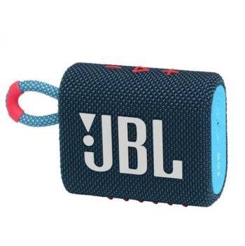 JBL GO3 Portable Waterproof Speaker- BluePink