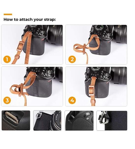 Retro Adjustable DSLR Camera Neck Strap