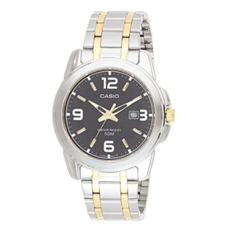 Casio Watch For Men Black Dial Metal Band MTP-1314SG-1AVDF